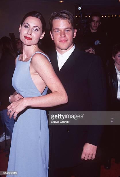 Matt Damon and Minnie Driver at the Mann Bruin Theatre in Westwood California