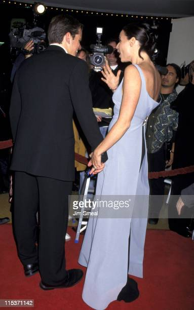 Matt Damon and Minnie Driver during AFI Benefit Premiere of 'Good Will Hunting' at Mann Bruin Theatre in Westwood California United States