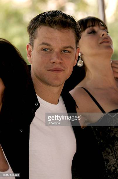 Matt Damon and Monica Bellucci during 2005 Venice Film Festival 'The Brothers Grimm' Photocall Arrivals at The Westin Excelsior in Venice Lido Italy