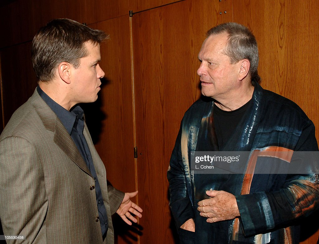 Matt Damon and Terry Gilliam director during 'The Brothers Grimm' Los Angeles Premiere After Party in Los Angeles California United States