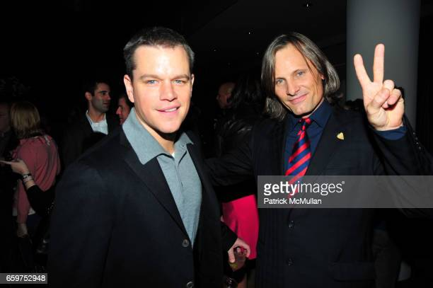 Matt Damon and Viggo Mortensen attend HISTORY hosts preview of THE PEOPLE SPEAK at Jazz at Lincon Center Rose theater NYC on November 19 2009