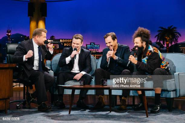 Matt Damon and Will Arnett beatbox with James Corden and Reggie Watts during 'The Late Late Show with James Corden' Thursday February 16 2017 On The...