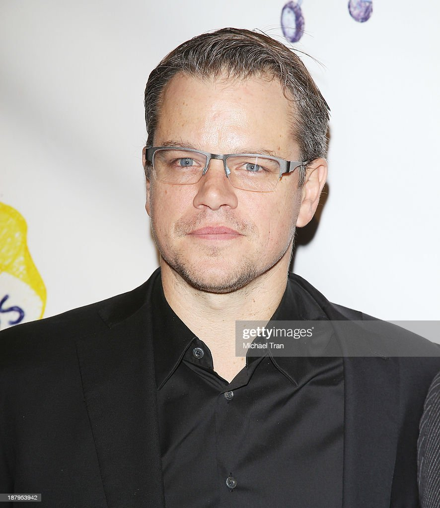 <a gi-track='captionPersonalityLinkClicked' href=/galleries/search?phrase=Matt+Damon&family=editorial&specificpeople=202093 ng-click='$event.stopPropagation()'>Matt Damon</a> arrives at the 'Stand Up For Gus' benefit event held at Bootsy Bellows on November 13, 2013 in West Hollywood, California.