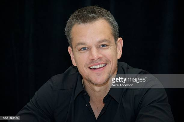 Matt Damon at 'The Martian' Press Conference at the Ritz Carlton on September 11 2015 in Toronto Ontario
