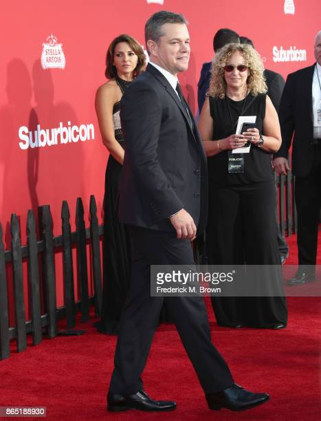 Matt Damon at the Premiere of Paramount Pictures' 'Suburbicon' at Regency Village Theatre on October 22 2017 in Westwood California