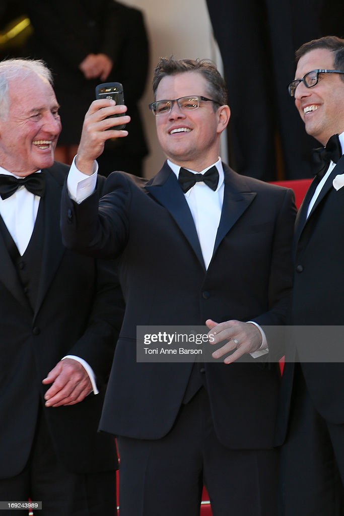 <a gi-track='captionPersonalityLinkClicked' href=/galleries/search?phrase=Matt+Damon&family=editorial&specificpeople=202093 ng-click='$event.stopPropagation()'>Matt Damon</a> attends 'Behind The Candelabra' Premiere during The 66th Annual Cannes Film Festival on May 21, 2013 in Cannes, France.