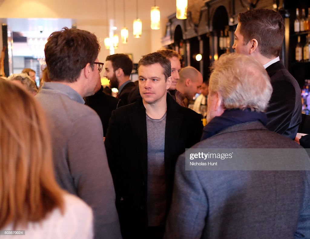 Matt Damon attends the 2016 Film Society Of Lincoln Center Luncheon at Scarpetta on January 5, 2016 in New York City.