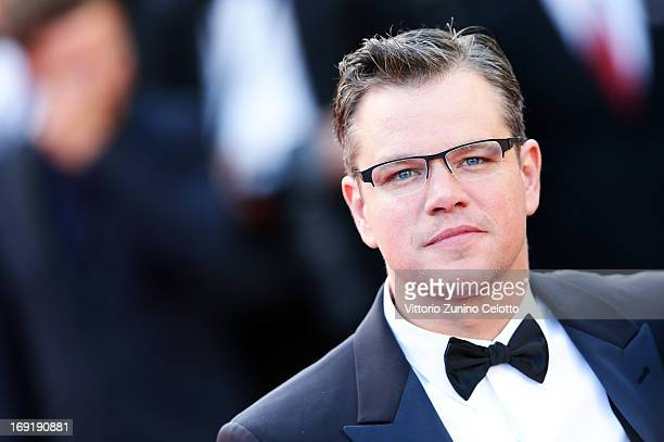Matt Damon attends the 'Behind The Candelabra' Premiere during the 66th Annual Cannes Film Festival at Grand Theatre Lumiere on May 21 2013 in Cannes...