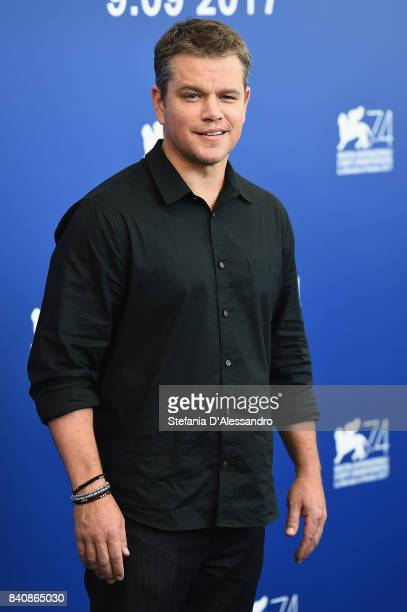 Matt Damon attends the 'Downsizing' photocall during the 74th Venice Film Festival on August 30 2017 in Venice Italy