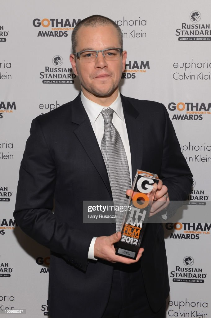 <a gi-track='captionPersonalityLinkClicked' href=/galleries/search?phrase=Matt+Damon&family=editorial&specificpeople=202093 ng-click='$event.stopPropagation()'>Matt Damon</a> attends the IFP's 22nd Annual Gotham Independent Film Awards at Cipriani Wall Street on November 26, 2012 in New York City.