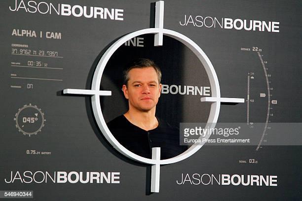 Matt Damon attends the 'Jason Bourne' photocall on July 13 2016 in Madrid Spain