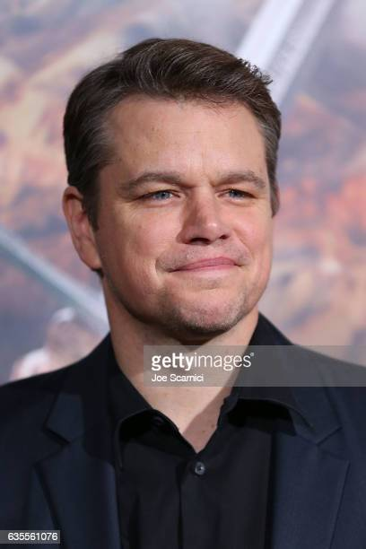 Matt Damon attends the premiere of Universal Pictures' 'The Great Wall' at TCL Chinese Theatre IMAX on February 15 2017 in Hollywood California