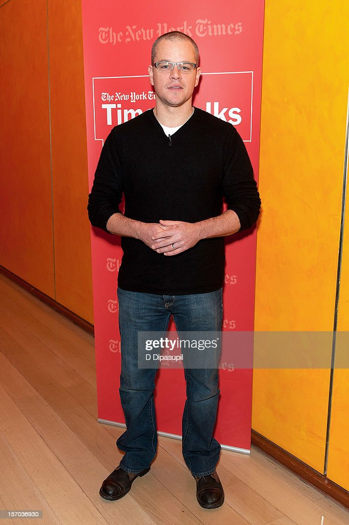 Matt Damon attends TimesTalks presents An Evening With Matt Damon & Gus Van Sant at The Times Center on November 27, 2012 in New York City.