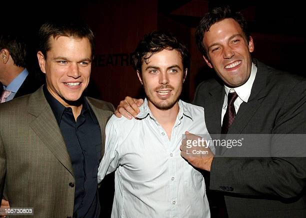 Matt Damon Casey Affleck and Ben Affleck during 'The Brothers Grimm' Los Angeles Premiere After Party in Los Angeles California United States