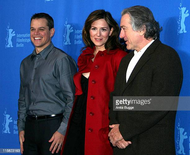 Matt Damon Martina Gedeck and Robert de Niro during The 57th Berlinale International Film Festival 'The Good Shepherd' Photocall at Grand Hyatt Hotel...