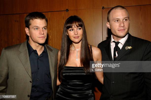 Matt Damon Monica Bellucci and Heath Ledger during 'The Brothers Grimm' Los Angeles Premiere After Party in Los Angeles California United States
