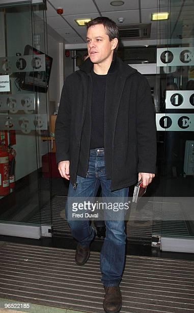Matt Damon sighting on February 9 2010 in London England