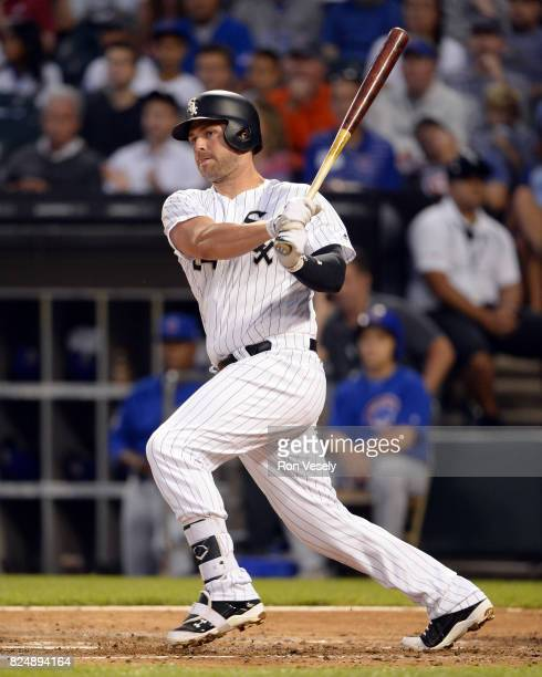 Matt Davidson of the Chicago White Sox bats against the Chicago Cubs on July 27 2017 at Guaranteed Rate Field in Chicago Illinois