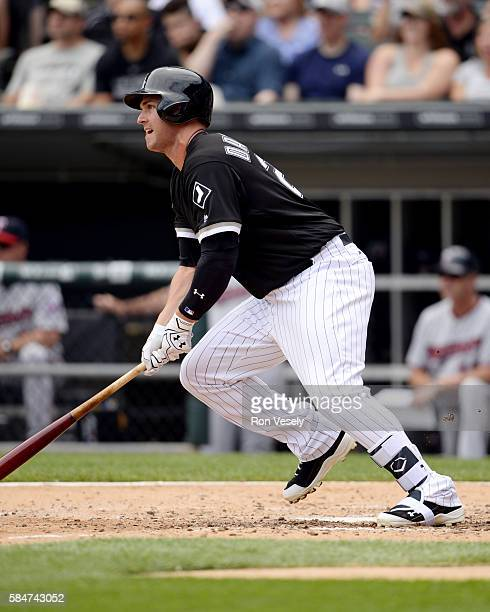 Matt Davidson of the Chicago White Sox bats against the Minnesota Twins on June 30 2016 at US Cellular Field in Chicago Illinois The White Sox...