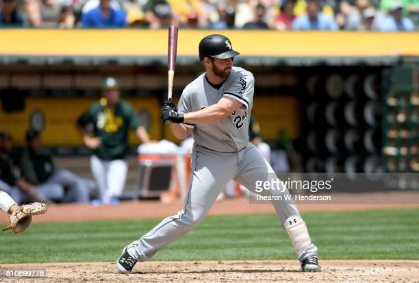 Matt Davidson of the Chicago White Sox bats against the Oakland Athletics in the top of the second inning at Oakland Alameda Coliseum on July 5 2017...