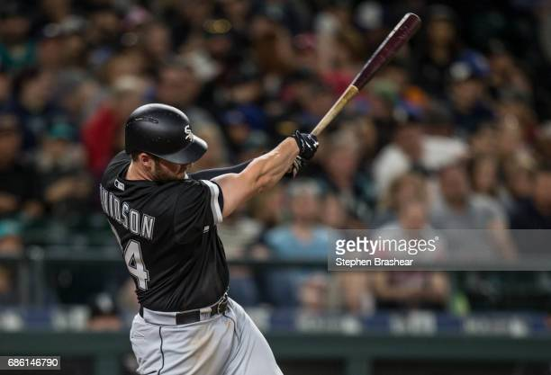 Matt Davidson of the Chicago White Sox hits a tworun home run off of relief pitcher Dillon Overton of the Seattle Mariners scoring Todd Frazier of...
