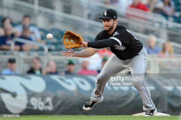 Matt Davidson of the Chicago White Sox makes a play at third base against the Minnesota Twins during the game on June 21 2017 at Target Field in...