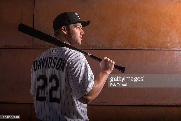 Matt Davidson of the Chicago White Sox poses for a portrait on photo day at the Glendale Sports Complex on February 22 2014 in Glendale Arizona