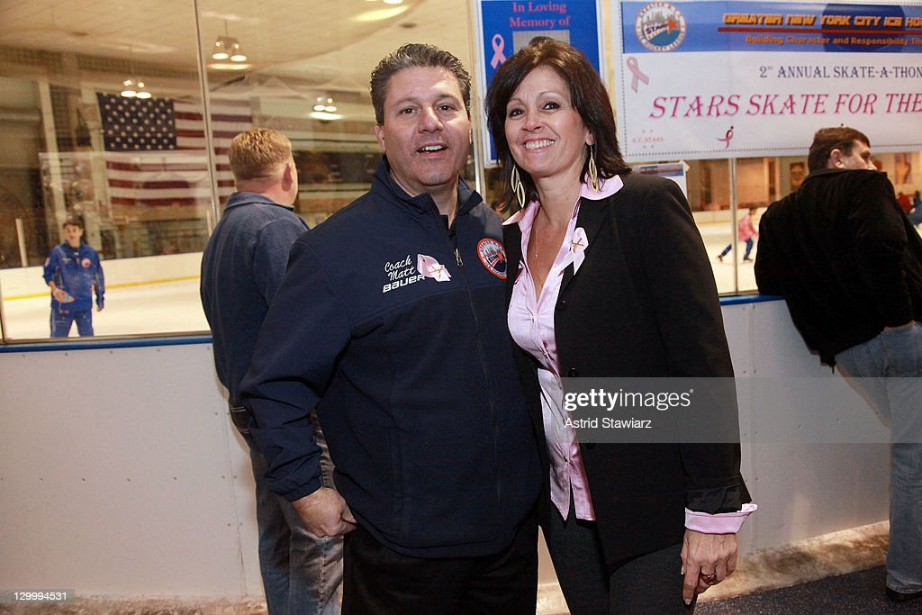 Matt Davie and Lisa Davie attend the 2011 Breast Cancer Skate-a-Thon at the Abe Stark Arena on October 22, 2011 in New York City.