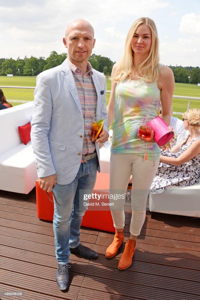 Matt Dawson and Carolin Dawson attend day two of the Audi Polo Challenge at Coworth Park Polo Club on June 1 2014 in Ascot England
