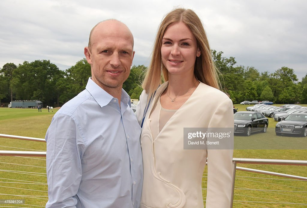 Matt Dawson and Carolin Hauskeller attend day two of the Audi Polo Challenge at Coworth Park on May 31 2015 in London England