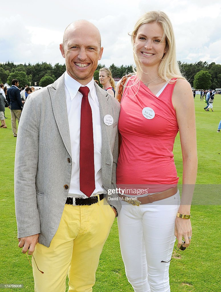 Matt Dawson and Carolin Hauskeller attend the Audi International Polo at Guards Polo Club on July 28 2013 in Egham England