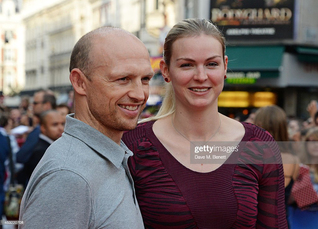 Matt Dawson and Carolin Hauskeller attend the World Premiere of 'The Inbetweeners 2' at Vue West End on August 5 2014 in London England