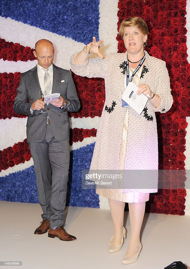 Matt Dawson and Clare Balding attend Investec Ladies Day at the Investec Derby Festival celebrating the Queen's Diamond Jubilee weekend held at Epsom...