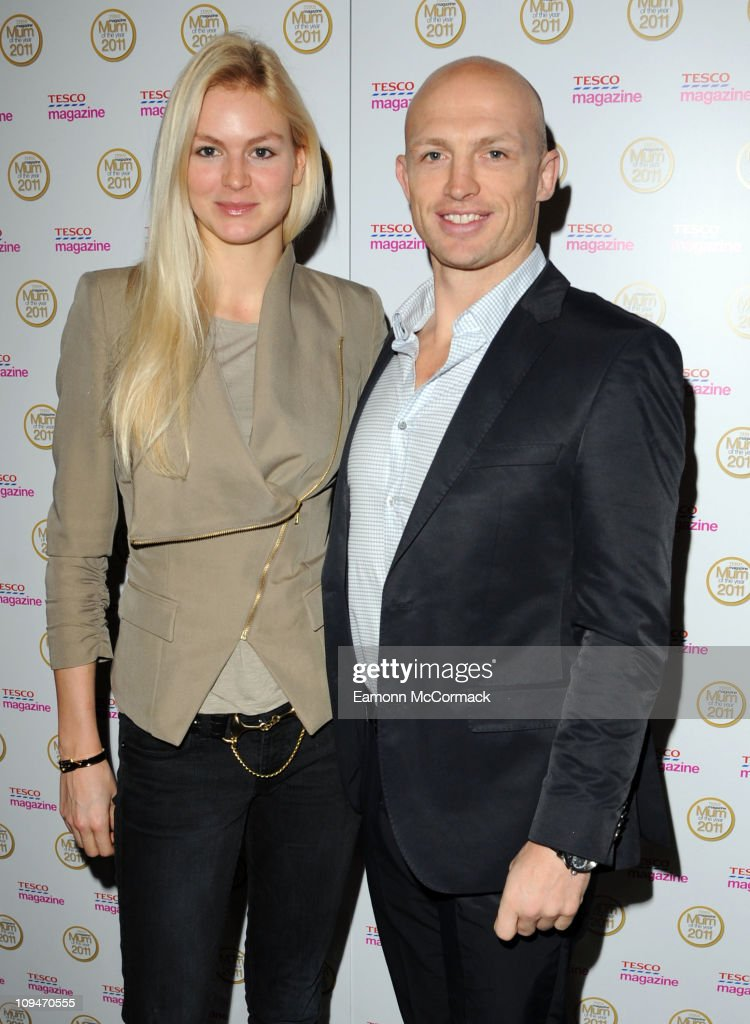 Matt Dawson and girlfriend attend the Tesco Magazine Mum Of The Year 2011 at The Waldorf Hilton Hotel on February 27 2011 in London England