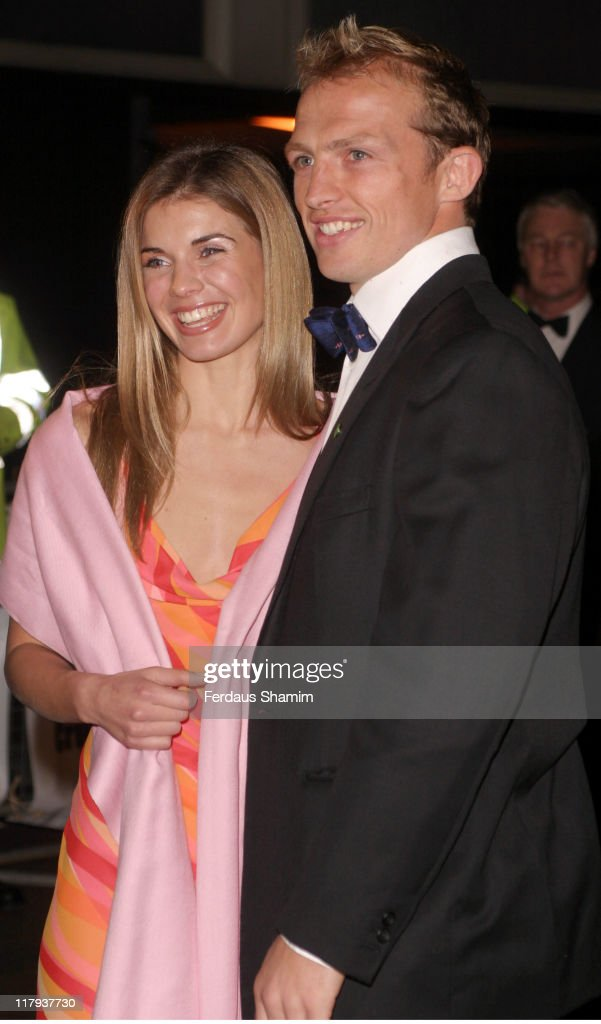 Matt Dawson and his girlfriend during Rugby World Cup Champions Team United Kingdom Celebrate in Style at Royal Lancaster Hotel in London Great...