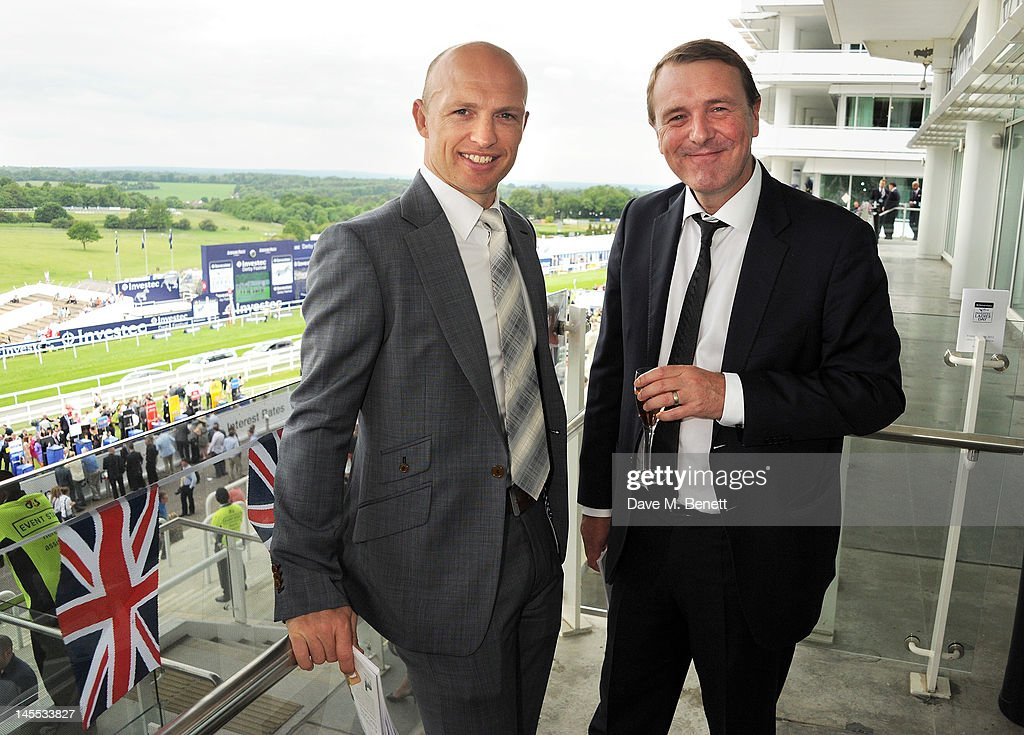 Matt Dawson and Phil Tufnell attend Investec Ladies Day at the Investec Derby Festival celebrating the Queen's Diamond Jubilee weekend held at Epsom...