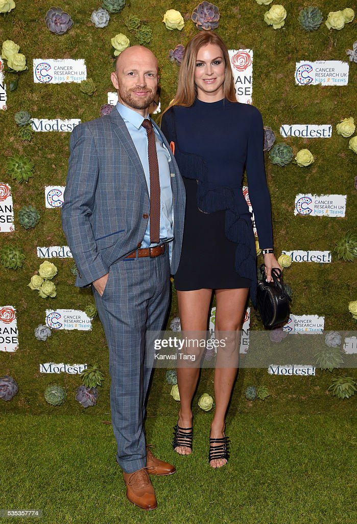 Matt Dawson and wife Carolin arrive for The Horan And Rose event at The Grove on May 29, 2016 in Watford, England.