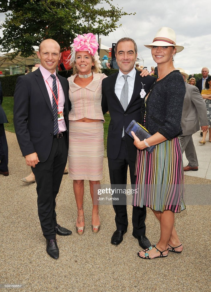 Matt Dawson Cozmo Jenks James Nesbitt and Jodie Kidd attend Ladies Day at the Glorious Goodwood Festival at Goodwood on July 29 2010 in Chichester...