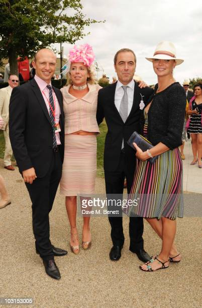 Matt Dawson Cozmo Jenks James Nesbitt and Jodie Kidd attend the Ladies Day at Glorious Goodwood at the Goodwood Racecourse on July 29 2010 in...