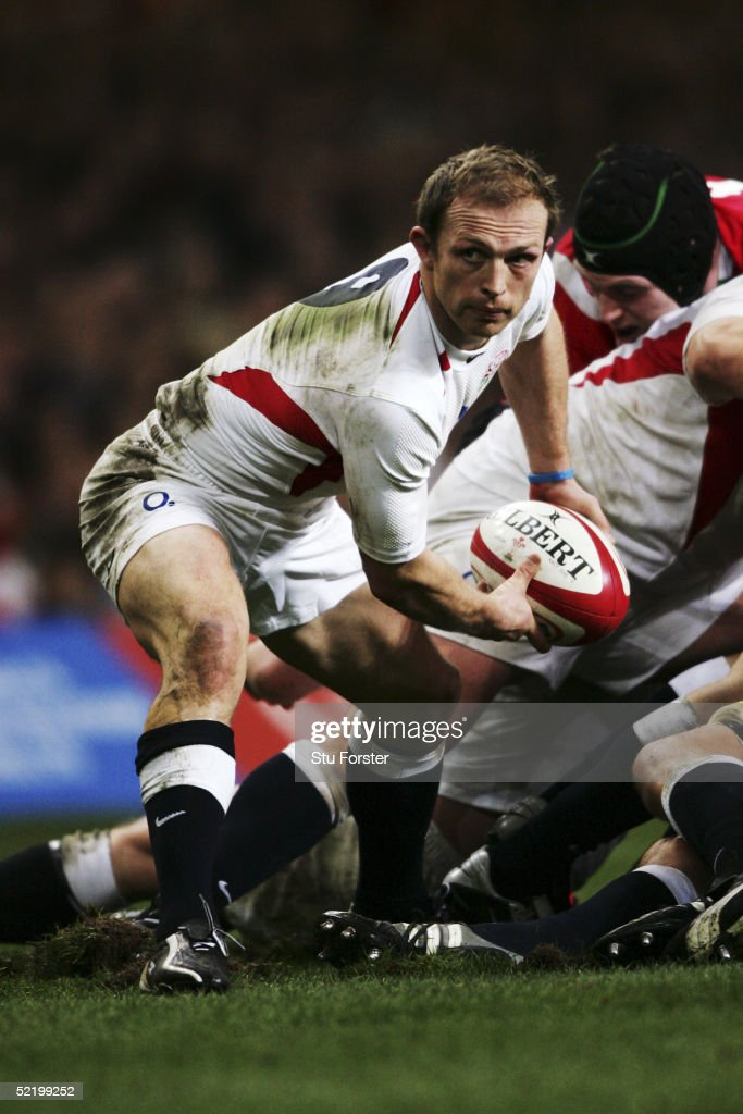 Matt Dawson of England in action during the RBS Six Nations game between Wales and England on February 5 2005 in Cardiff Wales