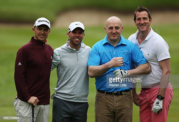 Matt Dawson Paul Casey of England Keith Wood and Will Greenwood pose during the ProAm round prior to the BMW PGA Championship on the West Course at...