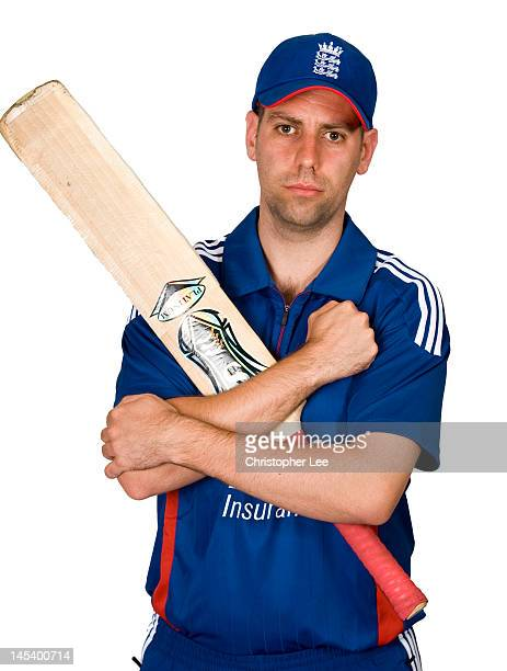 Matt Dean poses for the camera during the England Blind Cricket Squad Headshots on May 28 2012 in Worcester England