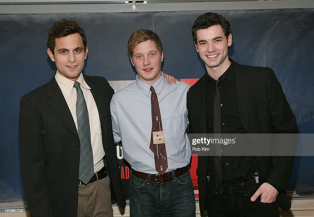 Matt Dellapina, Josh Caras and Jake O'Connor attend the opening night of 'The Dream of the Burning Boy' at Roundabout Theatre Company Black Box Theatre on March 23, 2011 in New York City.