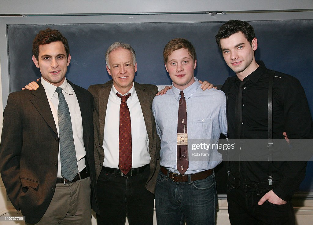 Matt Dellapina, Reed Birney, Josh Caras and Jake O'Connor attend the opening night of 'The Dream of the Burning Boy' at Roundabout Theatre Company Black Box Theatre on March 23, 2011 in New York City.