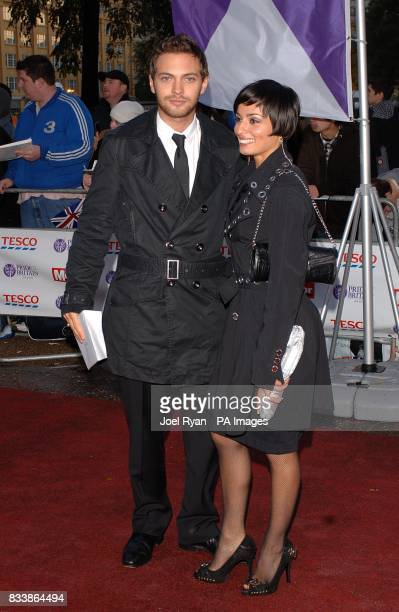 Matt Di Angelo and Flavia Cacace arrive for the Pride of Britain Awards 2007 The London Studios Upper Ground London SE1