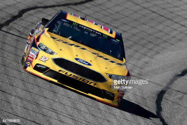 Matt DiBenedetto driver of the CanAm/Kappa Ford practices for the Monster Energy NASCAR Cup Series Folds of Honor QuickTrip 500 at Atlanta Motor...