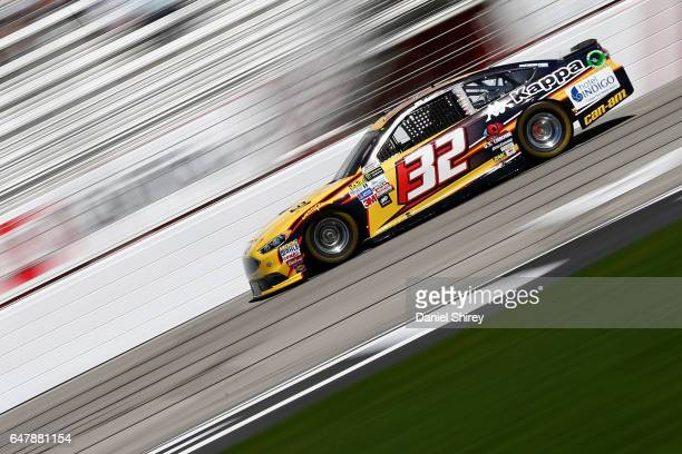 Matt DiBenedetto driver of the CanAm/Kappa Ford practices for the Monster Energy NASCAR Cup Series Folds of Honor QuikTrip 500 at Atlanta Motor...