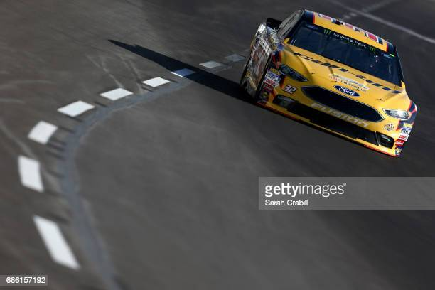 Matt DiBenedetto driver of the CanAm/Kappa Ford practices for the Monster Energy NASCAR Cup Series O'Reilly Auto Parts 500 at Texas Motor Speedway on...