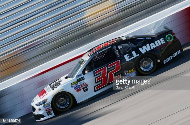 Matt DiBenedetto driver of the EJ Wade Construction Ford practices for the Monster Energy NASCAR Cup Series Federated Auto Parts 400 at Richmond...