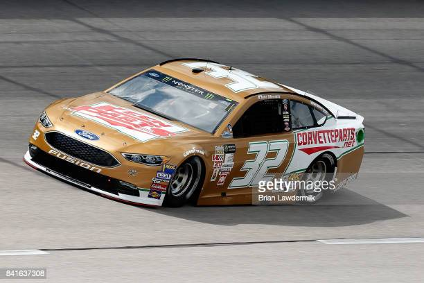 Matt DiBenedetto driver of the Keen Parts/Corvettepartsnet Ford practices for the Monster Energy NASCAR Cup Series Bojangles' Southern 500 at...
